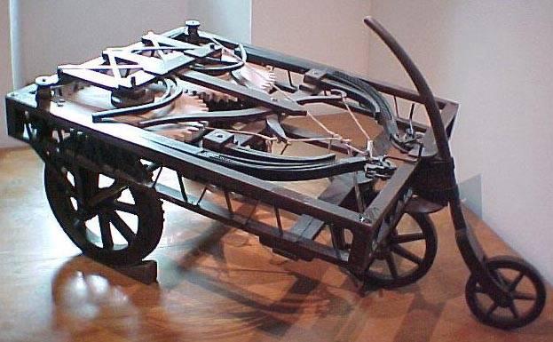 Прототип чертежа автомобиля Леонардо да Винчи