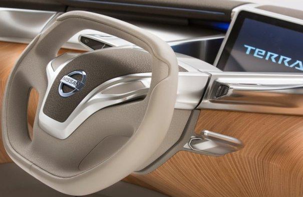 Фото Nissan-TeRRA Concept 2012 рулевое колесо