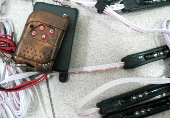 Радио-управляемый комплект неоновой подсветки днища