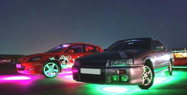 Фото неоновой подсветки дна автомобиля